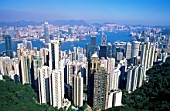 View from Victoria Peak,City Skyline and Victoria Harbour, Hong Kong, China