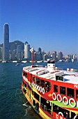 Star Ferry and City Skyline, Hong Kong, China