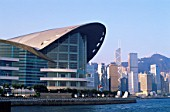 Hong Kong Convention Centre and City Skyline, China
