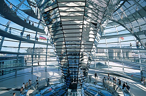 The Reichstag Parliament Building The Dome Berlin Germany