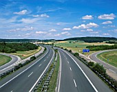 The Autobahn with Fields, Germany
