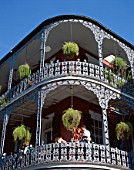 French Quarter, Outdoor Balconies, New Orleans, Louisiana, USA