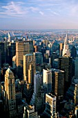 Manhattan City Skyline, view from Empire State Building, New York City, New York, USA