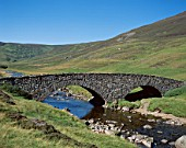 Glen Clunie, Stone Bridge & Rugged Hills, Braemar, Grampian, Scotland