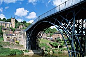 Iron Bridge Gorge, Worlds First Iron Structure (1779). Designer Abraham Darby. Shropshire, England