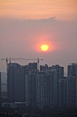 Sunset over Suzhou Industrial Park, China
