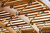 Timber roof structure, detail.