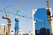 Construction Cranes in downtown Abu Dhabi