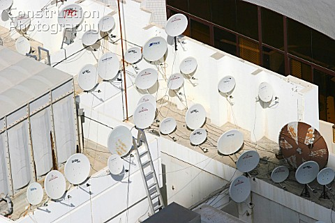 Satellite Dishes on rooftops in Abu Dhabi