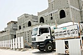 Construction of new expensive houses outside of Doha