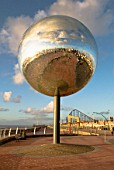 Sculpture Mirror Ball called 'They Shoot Horses Don't They', Blackpool, England, UK