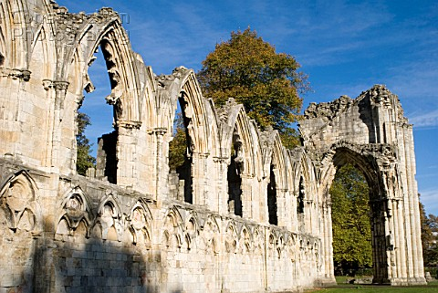 St Marys Abbey ruins York UK