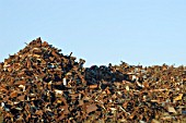 Scrap metal mountain, Widnes, Cheshire