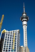 Sky Tower and AA centre, Auckland, New Zealand