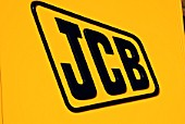 JCB sign on side of dumper truck, United Kingdom