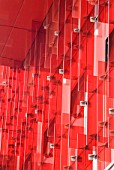 Red acrylic feature on outside of building, Reeperbahn, Hamburg, German.