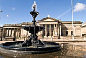 Water fountain outside Walker art gallery, Liverpool, United Kingdom