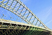 Runcorn Road Bridge (Queen Elizabeth II), Runcorn, Cheshire, United Kingdom.