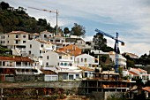 Property development in Andalusia, Spain. Construction of houses on a hill.