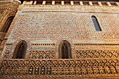 Arabic wall of the Cathedral, Zaragoza, Spain