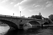 Pont Louis Phillippe over the Seine, Paris, France. View from Ile St. Louis.