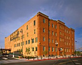 Exterior view of restored warehouse in Ogden, Utah coverted into office space.USA