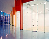 Interior view of raquetball courts at State University campus. Utah. USA.