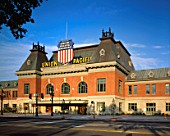 Exterior view of Union Pacific railroad building in Salt Lake City, Utah. USA.
