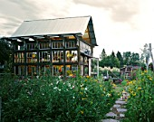 Exterior view of home made greenhouse in Lindon, Utah. USA.