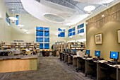 Interior view of new public library in Salt Lake City, Utah