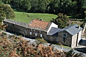 Farmhouse, St Pons, Languedoc, France, elevated view