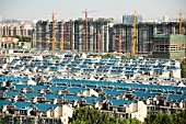 New apartment buildings in Tongzhou, Beijing, China, 2007.