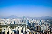 Shenzhen skyline with landmark Diwang Building, Guangdong, China