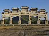 Marble Archway in Imperial tombs of Qing Dynasity in the East of Beijing, UNESCO world history heritage sites. China
