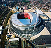 Wembley Stadium, London, UK, aerial view