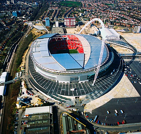 Wembley Stadium London UK aerial view