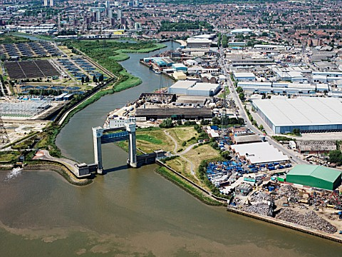 Barking Creek Flood Barrier Warpools Reach River Thames East London UK