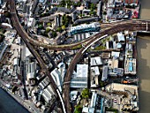 Aerial view London Bridge Station, London UK