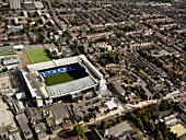 Aerial view of White Hart Lane Football Stadium,Tottenham Hotspurs, London, UK