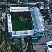 Aerial view of Upton Park - West Ham United Football Club Stadium, London, UK.