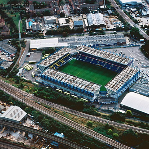 Aerial view of The Den  Millwall Football Club London UK