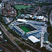Aerial view of The Den - Millwall Football Club, London, UK.