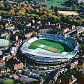 Aerial view of the Oval Cricket Ground, London, UK