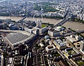 Aerial view of Waterloo Station, London, UK.