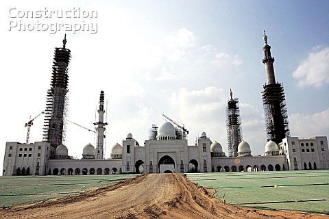 Grand Mosque of Abu Dhabi under construction Dubai United Arab Emirates December 2005 Destined to be