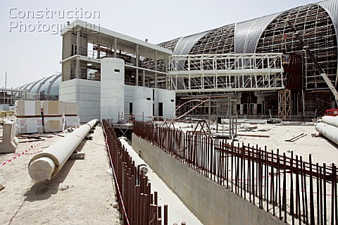 Construction work at Dubai International Airport expansion Terminal 3 Dubai United Arab Emirates Sep
