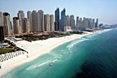 Aerial of Dubai, United Arab Emirates. Dubai Marina, Jumeirah Beach Residence. July 2007.