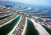 Aerial of Dubai, United Arab Emirates. Palm Jumeirah, July 2007.