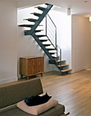 Modern living area and staircase