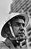 Alexander Pivtorak, Honourable Construction Worker of the Ukrainian Republic, head of the installation workers team of the Tsentralstalkonstruktsia trust, Kiev, Ukraine, August 1977